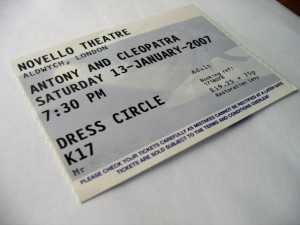 Antonty and Cleopatra Ticket