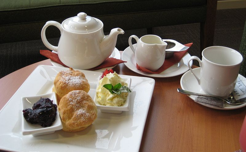 Devonshire Tea, by Liyster via commons.wikimedia.org