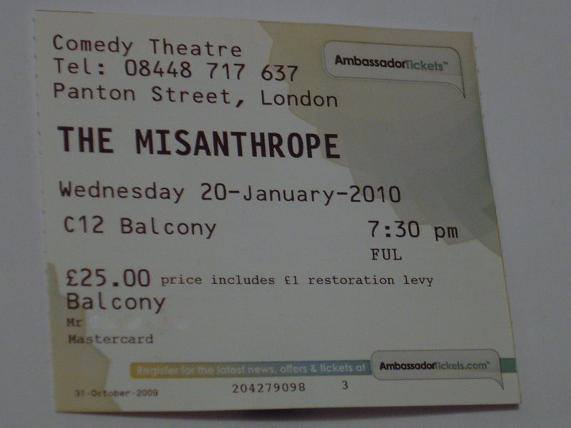 The Misanthrope Ticket