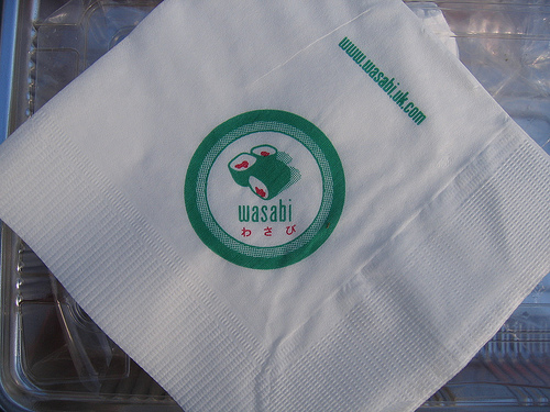 Wasabi Napkin, by tripu via flickr